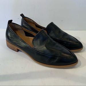 Susina Kellen Almond Toe loafer Black Flats Sz 7.5